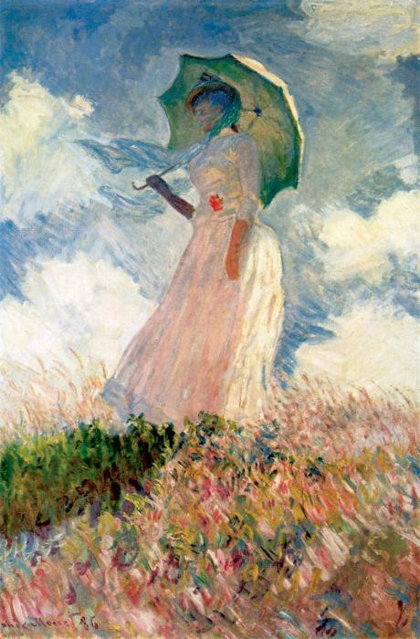 Frau mit Sonnenschirm (Studie)