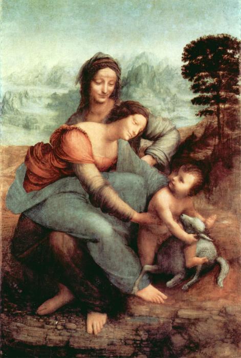Heilige Anna Selbdritt Leonardo Da Vinci