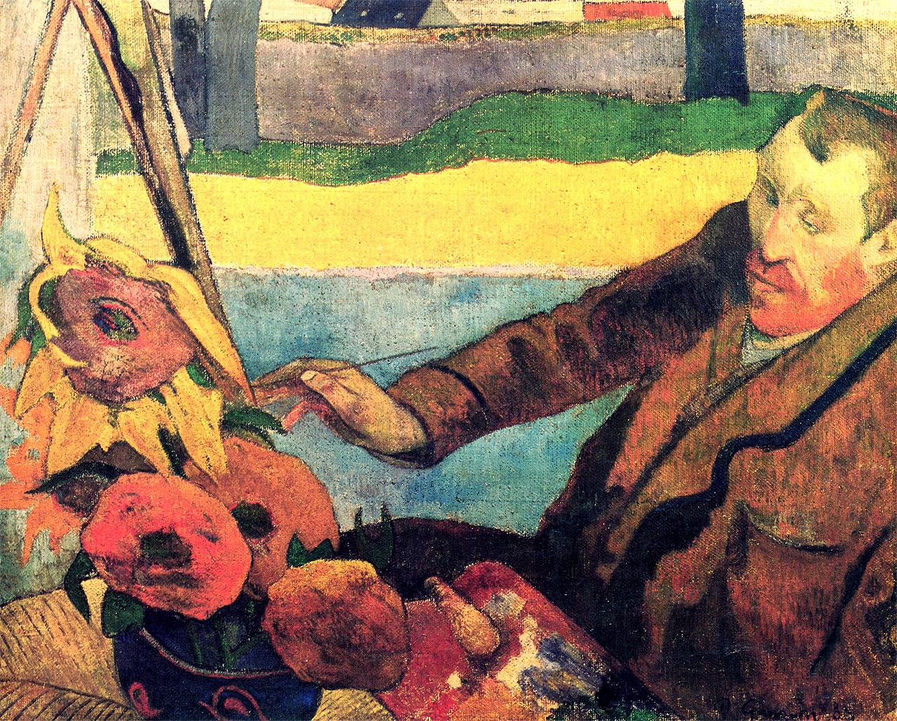 Vincent Van Gogh Malt Sonnenblumen Von Paul Cézanne