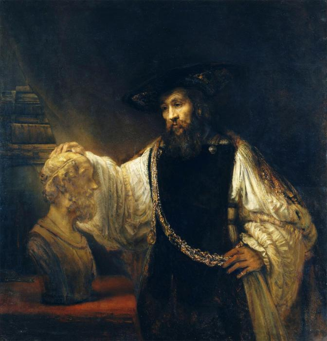 Aristoteles mit der Büste Homers