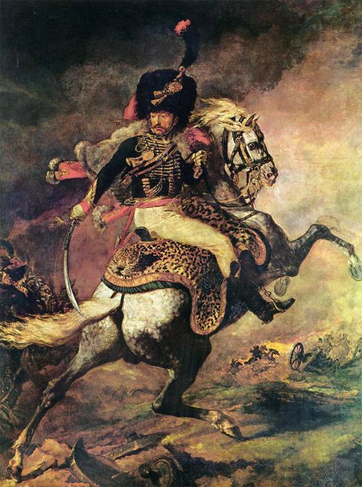 Offizier der Gardejäger beim Angriff