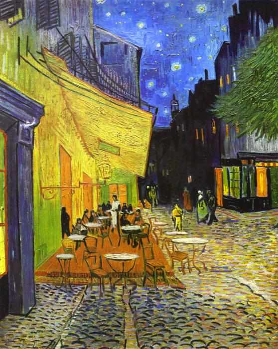Cafe Terrasse am Abend